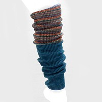 Striped Top Knit Leg Warmers
