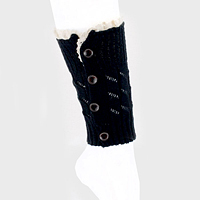 1-Pair Button up Lace Knit Boot Toppers