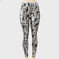 Metallic Graffiti Print Leggings