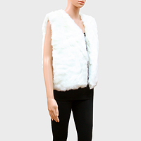 Sleeveless Short Fur Vest