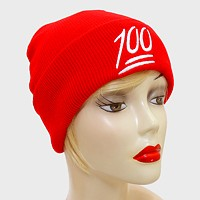 100 Fold Over Knit Beanie Hat