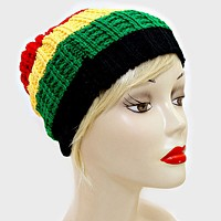 Jamaican Knitted Beanie hat