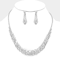 Crystal Rhinestone Bubble Collar Necklace