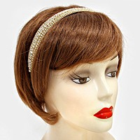 Multi-row crystal band stretch headband
