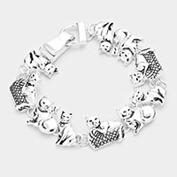 Metal Cat Link Magnetic Bracelet