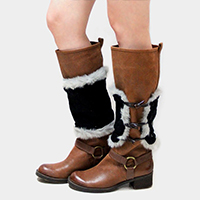 Fur Lined Duffle Knit Boot Toppers
