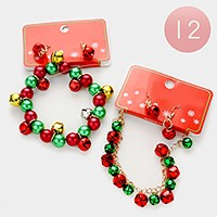 12 Sets - Christmas ornament beaded bracelets & earrings
