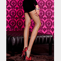 Seamless Diamond Fishnet Pantyhose Tights