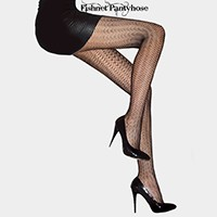 Fancy Scales Pattern Fishnet Pantyhose Tights