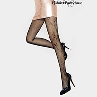 Butterfly Pattern on the Side Fishnet Pantyhose Tights