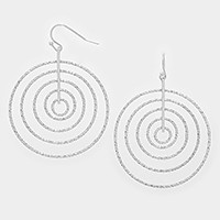 Textured Swirl Metal Drop Earrings