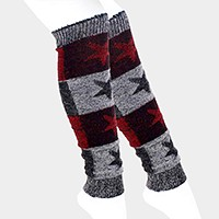 1-Pair Star Pattern Knit Leg Warmers