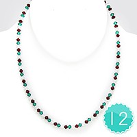 12 PCS - Christmas Light Beaded Collar Necklaces