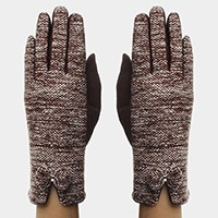 Fleece Lined Bow Gloves
