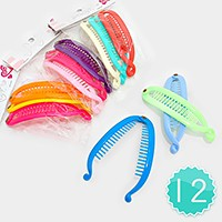12-Sets Colorful Banana Hair Clips