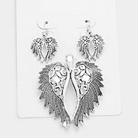 Wings Pendant Set