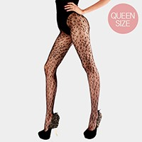 Loepard pattern net pantyhose tights