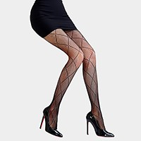 Diamond Pattern Fence Fishnet Pantyhose Tights