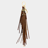 Metal Arrow Faux Suede Tassel Key Chain / Bag Charm