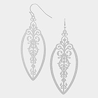 Filigree Cut out Metal Earrings
