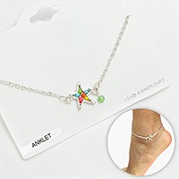 Colorful Bead Starfish Anklet