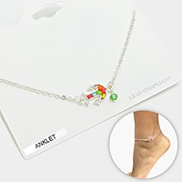 Colorful Bead Anchor Anklet