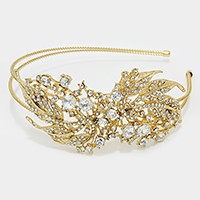 Crystal Leaf Vine Headband