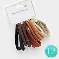 12 Sets - Ponytail Stretch Hair Bands