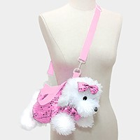 Sequin Dog Doll Crossbody Bag