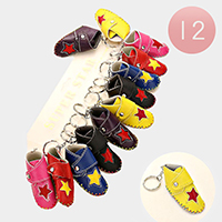12 PCS - Star shoe keychains