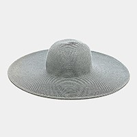 Wide Brimmed Solid Straw Floppy Hat