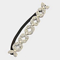 Crystal rhinestone stretch headband