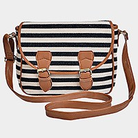 Stripe satchel bag