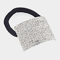 12-Row pave rhinestone ponytail hair band