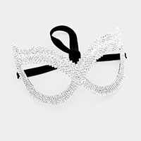 Pave Crystal cat eyes mask