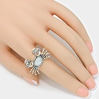 Mother of pearl crab ring