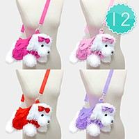 12 PCS - Sequin Dog Doll Crossbody Bags