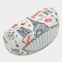 Romantic paris eiffel tower & lipstick mark eyewear Case