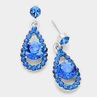 Genuine Austrian Crystal Droplet Earrings