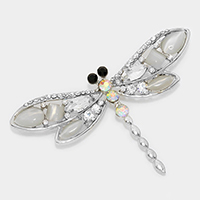 Crystal Dragonfly Pin Brooch