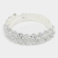 Crystal rhinestone bubble evening bracelet