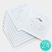 24 PCS - Jewelry display cards