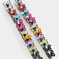 12pcs - Crystal butterfly hair clips
