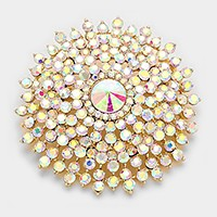 Glass Crystal Bubble Pin Brooch