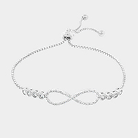 Cubic Zirconia Infinity Cinch Evening Bracelet