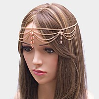 Draped metal head chain