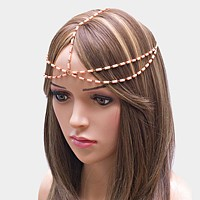 Beaded head chain