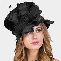 STANGLE LINED FEATHER FLORAL LADY'S HAT