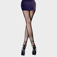 Backseam & bow detail pantyhose tights