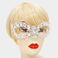 Crystal rhinestone cat eye masquerade mask